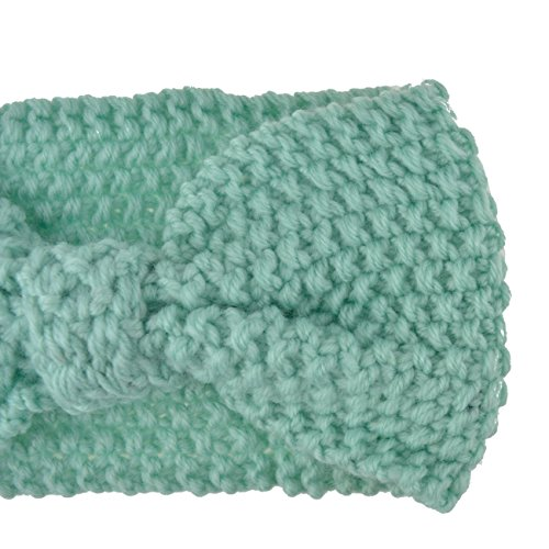 DRESHOW Damen Schleife Design Stirnband Winter Kopfband Haarband Stirnband Häkelarbeit - 5