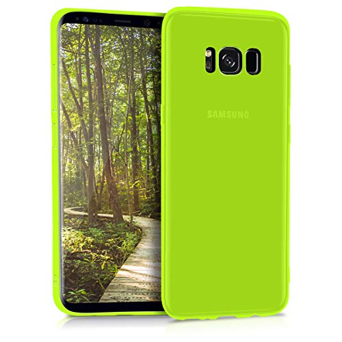 kwmobile Samsung Galaxy S8 Cover - Custodia per Samsung Galaxy S8 in Silicone TPU - Backcover Protezione Giallo Fluorescente