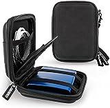 Caseflex Shockproof Hard Drive Case for 2.5 Inch Portable External Hard Drives - Black