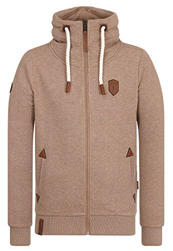 Naketano Male Zipped Jacket Ivic VIII Dünnschiss Kotze Melange