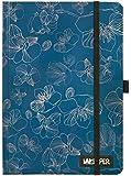 Unkeeper UNGB0602 - Notizbuch mit Gummizug Bluebelle, A5, 21 x 14.5 x 1 cm