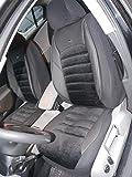 Sitzbezüge k-Maniac | Universal Schwarz | Autositzbezüge Set Komplett | Autozubehör Innenraum | Auto Zubehör für Frauen und Männer | No. 2 | Kfz Tuning | Sitzbezug | Sitzschoner
