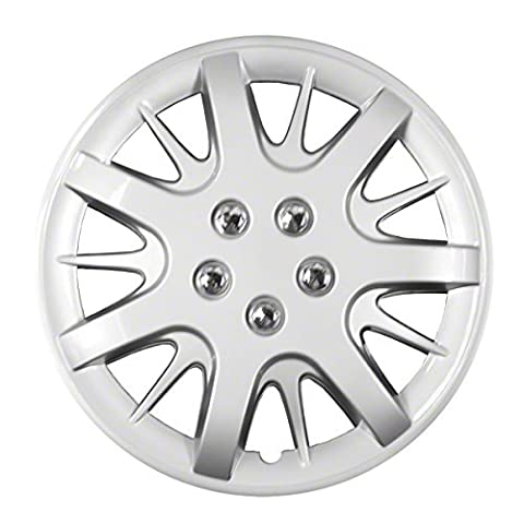 2000, 2001, 2002, 2003, 2004, 2005, 2006, 2007, 2008, 2009, 2010, 2011 CHEVY IMPALA SILVER FACTORY REPLICA WHEEL COVERS / HUBCAPS (Set of 4) - 16 by