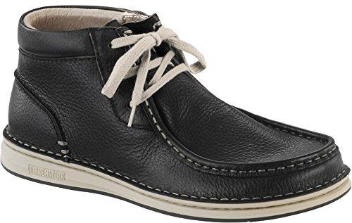 BIRKENSTOCK PASADENA HIGH Natural Leather embossed scarpe alte sneaker pelle martellata (38 EU, BLACK)