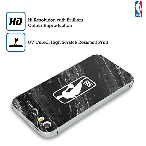 Ufficiale NBA Strisce Logoman Argento Cover Contorno con Bumper in Alluminio per Apple iPhone 6 Plus / 6s Plus Marmo B&N