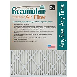 16X24X1 (15.75 x 23.75) Accumulair Platinum 1-Inch Filter (MERV 11) (4 Pack)