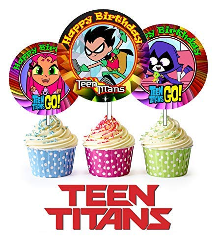 ty Teen Titans inspiriert Picks, Cupcake Picks, Cupcake Topper # 1 ()