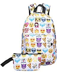 Greeniris Emoji Sac à Dos Femmes Cartable Sac Scolaire Mignonne Sac porté Dos School Backpack pour Fille /Enfants