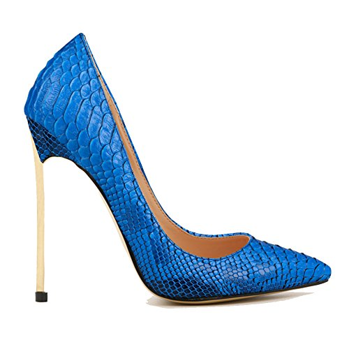 EKS Damen Mode Thin Gold High Heels Pointed-toe Pumpen-Schuhe EU 34-