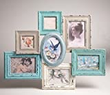 Best Collage Photo Frames - Blue and cream collage multi frame x 7 Review