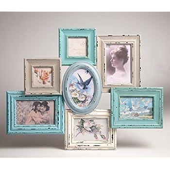 blue and cream collage multi frame x 7 frames - Multi Photo Frames