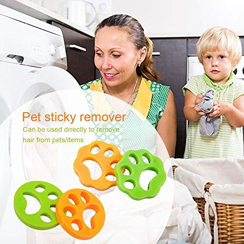 4 Stück Haustier haarentferner, Tierhaarentferner für Waschmaschine Pet Hair Catcher Reinigung Ball Haarfänger Haarentfernung für Hundehaar, Katzenfell und alle Haustiere (MIX-4)