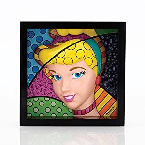 Enesco Disney By Britto 4033869 Figurine Plaque en Relief Cendrillon Pop Art Résine 18 cm