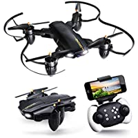 JoyGeek Drone with Camera, Foldable FPV RC Quadcopter for Adults Boys Toys kids Beginners Gift, Wifi Live Video VR 2.4GHz 6-Axis Gyroscope Aircraft Altitude Hover Remote Control for iPhone & Android