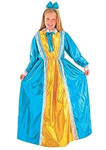 FIORI PAOLO-Damina sueco disfraz niña L (7-9 anni) amarillo