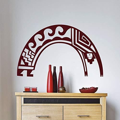 zhuziji Arching Man Wall Decal Vinilos Decorativos Native American Modern Fashion Home Decor Living Room Bedroom Special Design 77x42cm