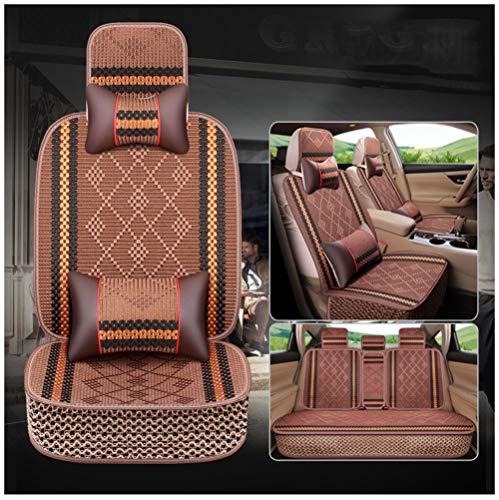 Sommer Ice Silk Car Cushion - Vier Jahreszeiten Universal Cool Pad Auto Matte Deluxe Edition (Packung mit 5),A -