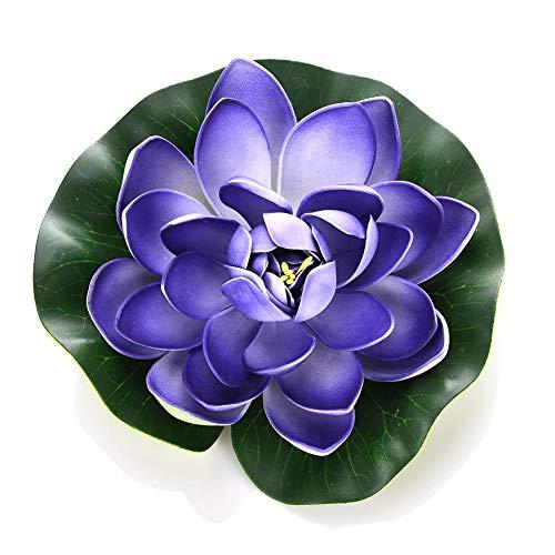 Künstliche Blumen Gefälschte Blumensträuße Künstliche Simulation Zierpflanzen Dekorieren Sie Lotusblume zu Aquarium