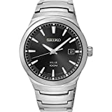 Seiko SNE291P1 – Grey Solar Analog – Watch Men – Automatic – black dial – Steel Bracelet