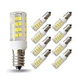 Lampaous E14 LED Mais Birnen 5 Watt Lampe, ersetzt 40W Glühbirne Energiesparlampe Einbauleuchte Kaltweiß 400 Lumen 360° Abstrahlwinkel, Dunstabzugshaube Birne,8er Pack