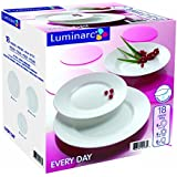 Luminarc Everyday - Vajilla redonda de 18 piezas