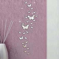 lyhhai 30 Pcs Home Decoration DIY Art Modern 3D Acrylic Mirror Butterflies Wall Stickers