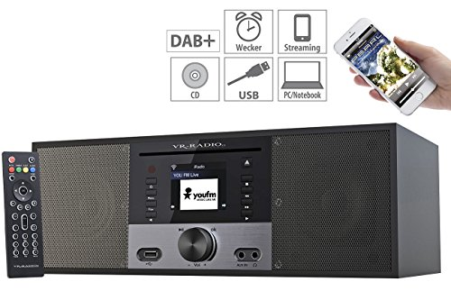 VR-Radio Stereoanlage: Stereo-Internetradio m. CD-Player, DAB+/FM, Farbdisplay, Wecker, 32 W (Internet Radio mit CD Player)