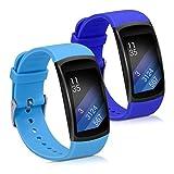 kwmobile Bracelet Samsung Gear Fit2 / Gear Fit 2 Pro - Set 2X Bracelet de Rechange en Silicone pour Fitness Tracker Samsung Gear Fit2 / Gear Fit 2 Pro