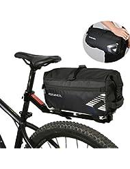 Roswheel 2 in 1 Bolsa trasera para bicicleta & Bolso de Bandolera 6L Bolsa alforja para bicicleta Con la abertura rodante y el logotipo reflexivo