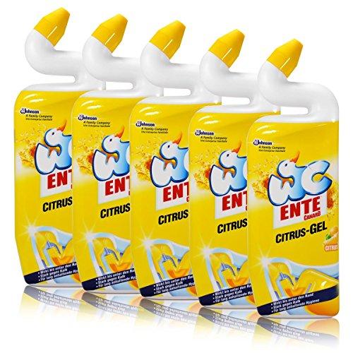 Citrus-gel-reiniger (5x WC Ente Citrus-Gel WC Reiniger Citrus 750 ml)