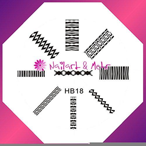 Pochoir de stamping # HB de 18 ~ bordüren ~
