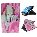 Schutzhülle für Archos Core 101 3G V2-25,7 cm (10,1 Zoll), Leder, Standfunktion, Pink