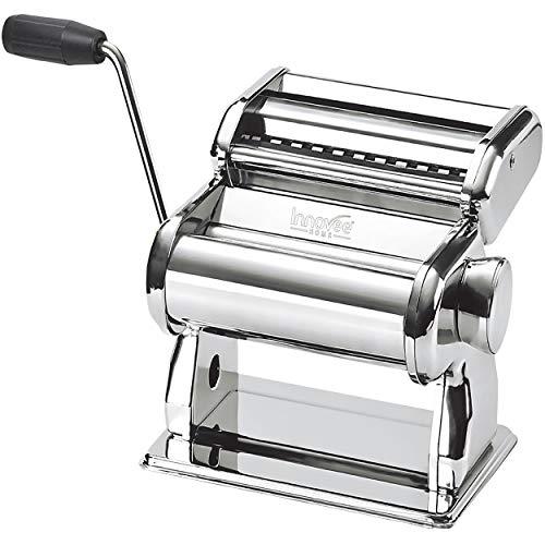 Nuvantee Pasta Maker - Macchina per la Pasta di Alta qualità - Rullo 150 con Taglia Pasta - 7 Impostazioni di Spessore Regolabili - Crea Spaghetti o Fettuccine Perfetti