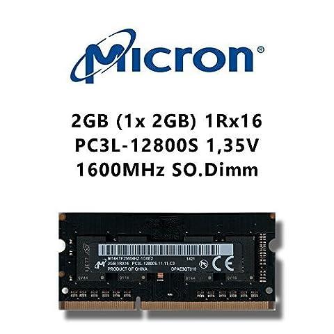 Micron 2GB (1x 2GB) DDR3 1600MHz (PC3L 12800S) SO Dimm Low Voltage Notebook Laptop Arbeitsspeicher RAM