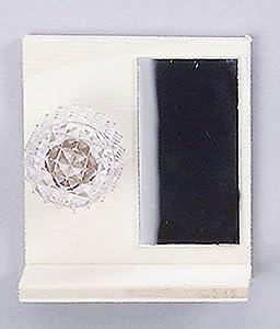 Kahlert Licht Espejo de baño con estantería Iluminado Lámpara Miniatura para Dollhouse