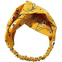 Republe Aro de las mujeres Gilr Bowknot patrón en forma de diadema floral raya Turbante Moda Facinator Headwear joyería del lazo del pelo