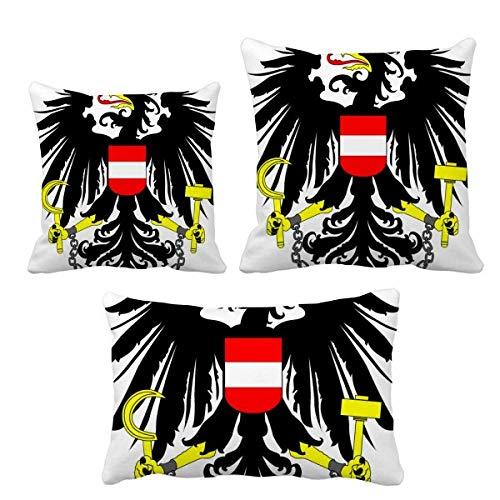 DIYthinker Ã-sterreich Nationales Emblem Land Wurf Kissen Set Einfügen Kissen Deckel Startseite Sofa Dekor Geschenk