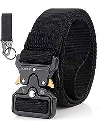Cintura Militare Tattica per Uomo Heavy Duty Cintura Militare con Cintura Cintura in Nylon Resistente per Caccia Esecuzione di Esercizi Militari