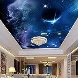Wallpaper Experten Benutzerdefinierte Größe 3D-Wandbilder Tapeten Universum Sternenhimmel Design Wandmalerei Wohnzimmer Deckengemälde Foto Tapete 3D150cmX105cm