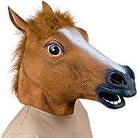 Supmaker Deluxe Novelty Halloween Costume Party Latex Animal Head Mask Horse head