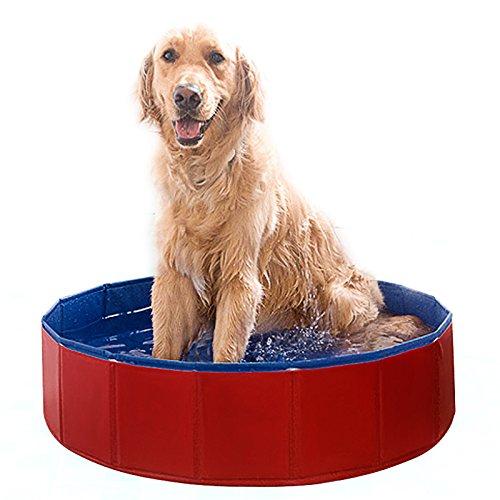 Falt-pool (Black Friday ANGEBOT(-20%) Fomer Doggy Pool das Planschbecken Hundepool Swimmingpool für den Hun 3 Größe (80x20cm))