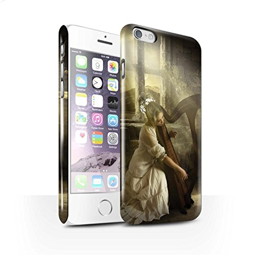Officiel Elena Dudina Coque / Clipser Brillant Etui pour Apple iPhone 6 / Pack 6pcs Design / Réconfort Musique Collection Harpe/Harpiste