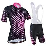 BXIO Maillot Ciclismo Mujer, Ciclismo Conjunto de Ropa con Culotte Pantalones Acolchado 3D para Deportes al...