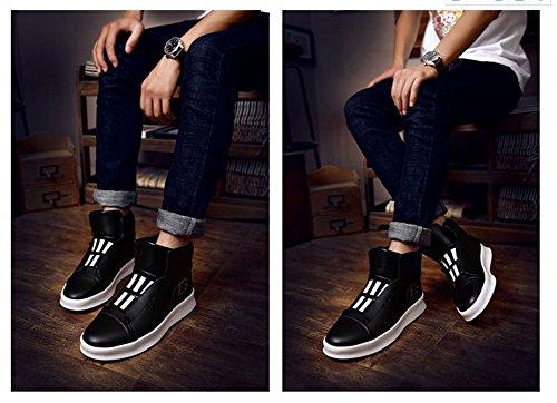 Uomini Pattini Piani Leggeri 2017 Autunno Inverno Nuovo Trend Di Moda Skateboard Scarpe Scarpe Da Ginnastica Alta Personalità Personalità Black