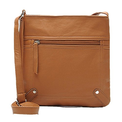 Handtaschen -Tasche,WINWINTOM SDamenledertasche Umhängetasche Schulter Messenger Bag Handtasche Hellbraun