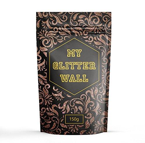 Braun 150g my Glitter Wand Glitter für Emulsion Farbe glitzernden Wand Dekorationen perfekt für Innen und Außen (Creme Kleidung Mischen)