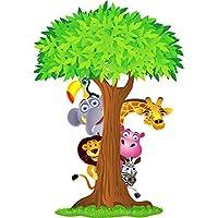 sticker Autocollant enfant Animaux de la jungle 70x100cm réf 2639