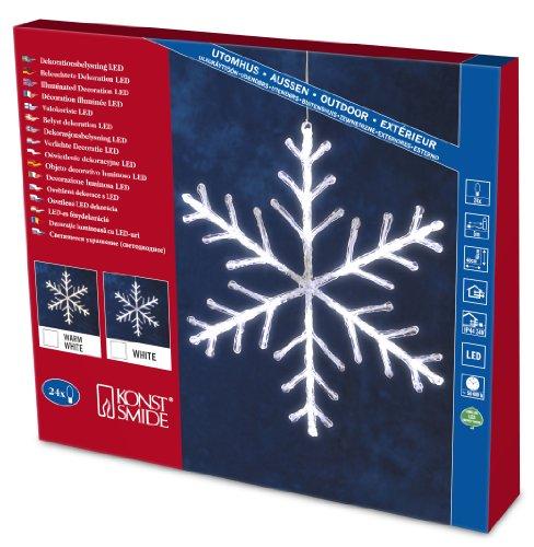 Konstsmide 4440-203 Flocons Acryliques 24 LED Blanc + Câble Transparent 24 V