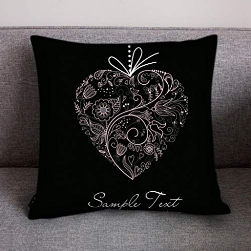 Feytuo Kissenbezüge Polyester Print Love Sofa, Wohnaccessoires Dekoration, 45x45 Zip abnehmbare waschbare Kissenbezüge