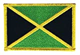 Flaggen Aufnäher Jamaika Fahne Patch + gratis Aufkleber,